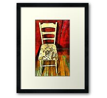 The Cream-Colored Chair Framed Print