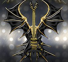Black Gothic Guitar  by Bluesax