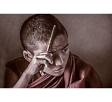 Mindful Monk Photographic Print