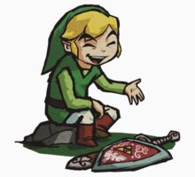 Like A Boss - Toon Link T-Shirt & Stickers by HyruLOOP