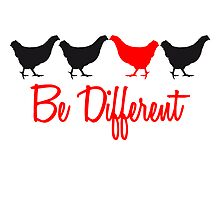 Be Different Hhs mit Text by Style-O-Mat