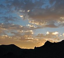 Sunset Over Mountains in Nevada (part 1) by Jared Manninen