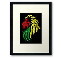 Lion Reggae Colors Cool Flag Vector Art  Framed Print