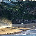 Warriewood beach rescue by Doug Cliff