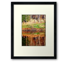 Water reflections on the river | waterscape photography Framed Print