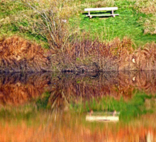 Water reflections on the river   waterscape photography Sticker