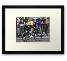 Bradley Wiggins - Tour of Britain 2013 Framed Print