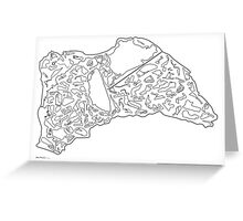 Race Tracks to Scale V2 - Plain Layouts Greeting Card