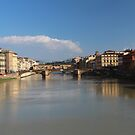 Florence - Bridges, Arno River by MelTho