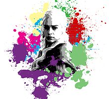 Khaleesi Rainbow Splatter by Impala-Designs