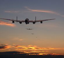 Lancaster - At the going down of the sun.......... by Pat Speirs