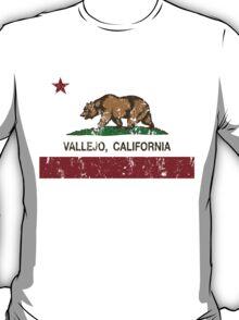 Vallejo California Republic Flag Distressed T-Shirt