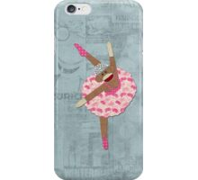 Sock Monkey Ballerina iPhone Case/Skin