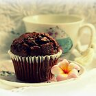 Chocolate Muffin, Frangipani & Tea by Evita