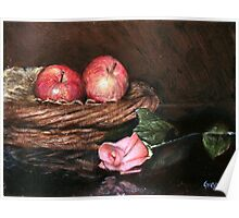 Apples in Basket Poster