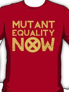 X-Men Mutant Equality NOW Red T-shirt T-Shirt
