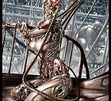 Cyberpunk Painting 019 by Ian Sokoliwski