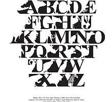 Alphabet zoo black and white by Budi Satria Kwan