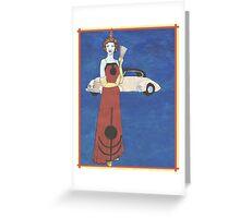 Art Deco Bete Noir Greeting Card