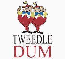 Tweedle Dum Couple T-Shirts  by diannasdesign
