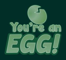 You're an EGG! with cracked egg by jazzydevil