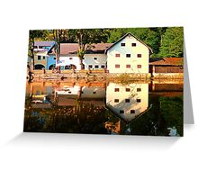 River reflections at the mill | waterscape photography Greeting Card