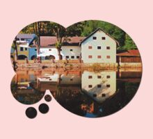 River reflections at the mill | waterscape photography Kids Clothes