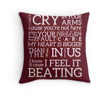 Proof - Paramore (Typgraphy) Throw Pillow