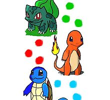 Pokemon Gen 1 starters  by monotonous03