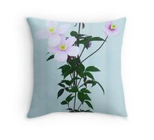 The Pink Clematis  Throw Pillow