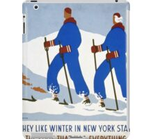 They Like Winter in New York State iPad Case/Skin