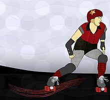 Roller Derby  by Janet Carlson