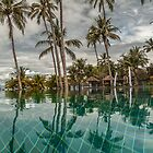 Tropical Pool Reflection by JohnKarmouche