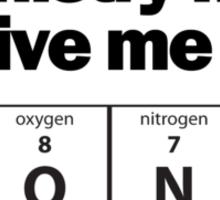 Chemistry Nerd Boner Sticker