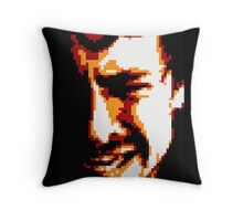 Mind on Fire Black Background Throw Pillow