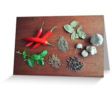 Herbs and Spices Greeting Card