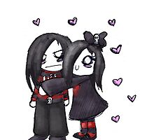 Emo Couple by starlytemaren