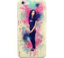 Naya Rivera: Vintage Colour Splash iPhone Case/Skin