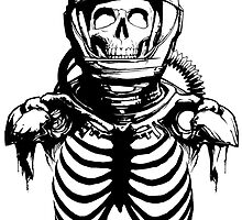 Astronaut Skeleton by RorcraftMC
