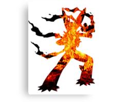 Mega Blaziken used Blast Burn Canvas Print