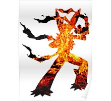 Mega Blaziken used Blast Burn Poster