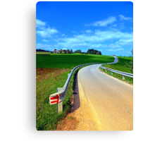 Country road into amazing panorama | landscape photography Canvas Print