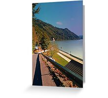 Road into Danube valley | waterscape photography Greeting Card