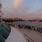 Cruising into Sydney at sunrise by PhotosByG