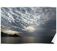 Cirrocumulus Clouds and Sunbeams Poster