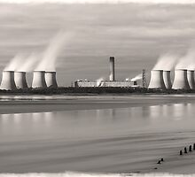 Ebbing Tide at Fiddlers Ferry by DavidWHughes