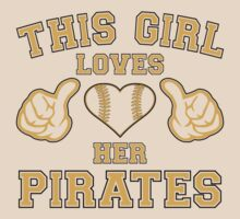 This Girl Loves Her Pittsburgh Pirates Heart Baseball T Shirt by xdurango