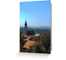 Village church, skyline and panorama | landscape photography Greeting Card