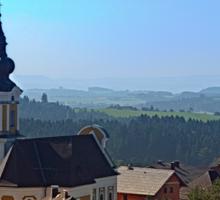Village church, skyline and panorama | landscape photography Sticker