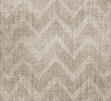 Chevron burlap (Hessian series 1 of 3) by John Medbury (LAZY J Studios)